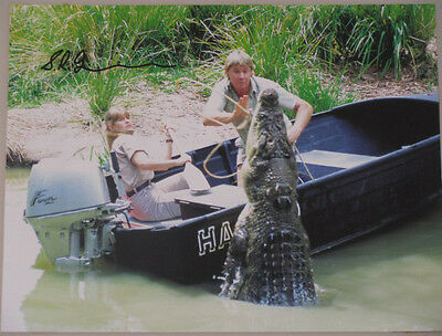 "STEVE IRWIN RARE Hand Signed 8""x10"" Photo  + Bonus   ""BUY GENUINE"""