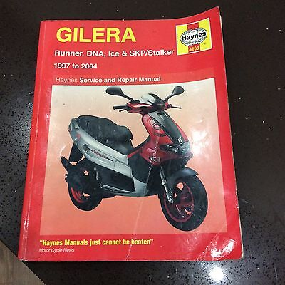 GILERA SCOOTERS, RUNNER, DNA, ICE, SKP, STALKER Haynes Workshop Manual 1997-2004