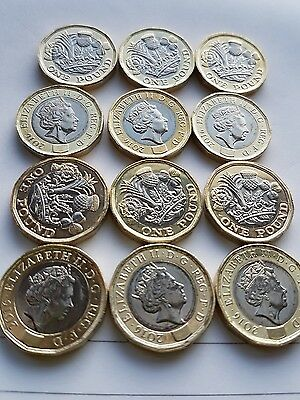 1 x Royal Mint 12 Sided New £1 One Pound Coin (DATED 2016).