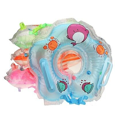 Inflatable Infant Baby Neck Float Bath Safety Aid Newborn Swimming Swim Ring Toy