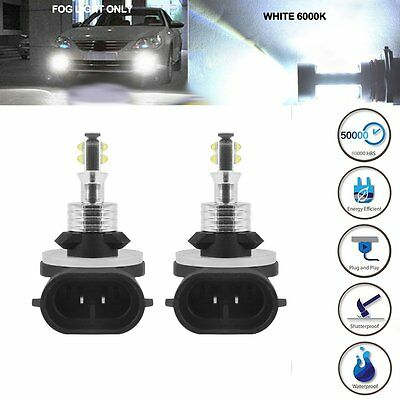 2X White 6000K 80W 881 886 894 896 2525 SMD LED Fog Driving DRL Light Lamp Bulbs