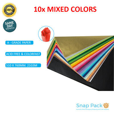 Acid FreeTissue Paper Ream 500 SHEETS MIXED COLOR 510mmx760mm 21gsm Gift-A Grade