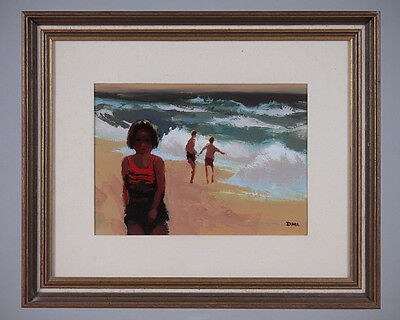 Bathers – Original Painting on Board by Donald McIntyre.