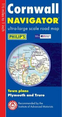Philip's Navigator Road Map Cornwall Sheet map, folded Book The Cheap Fast Free