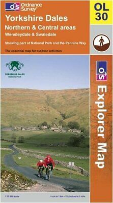 Yorkshire Dales: Northern and Central Ar... by Ordnance Survey Sheet map, folded