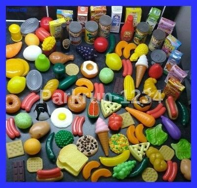 Quality Huge Play Food Set FAST POSTAGE Childrens Toy Pretend Shopping Groceries