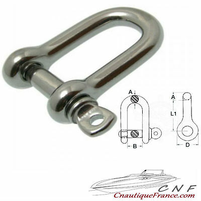 12 Mm - Manille Droite - Inox 316 - 12 Mm -        08.321.12