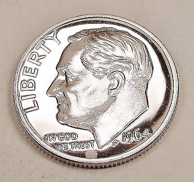 1964   Proof   Dime  90%  Silver   Exact  Coin  Pictured      #418  8