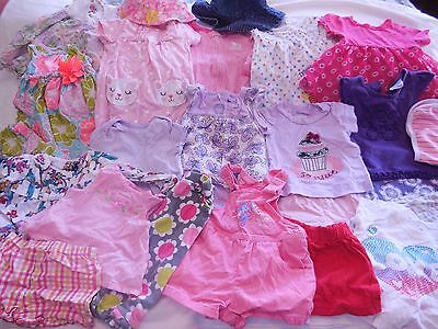 Lot of 26 pieces Infant Girl clothing most 6-9 month Carter's Baby Gap Disney...