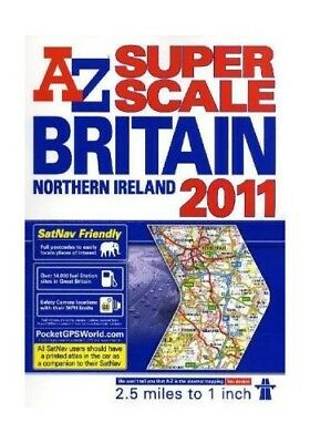 Great Britain Super Scale Road Atlas, Geographers' a-Z Map Company Spiral bound