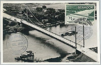 63918 - Ecuador - Postal History: Maximum Card 1958 -  Architecture