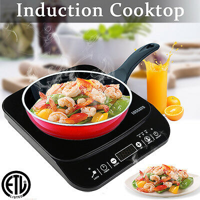 1800W Electric Induction Cooktop Portable Stove Cooker Burner Heat Countertop