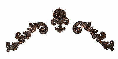 Hickory Manor House 3 Piece Plume Scroll Wall Décor Set