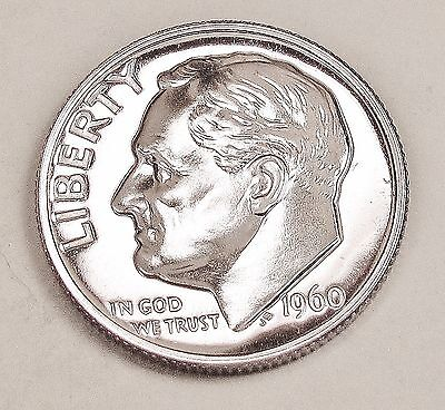 1960   Proof   Dime  90%  Silver   Exact  Coin  Pictured      #418  17