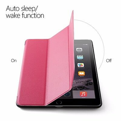 For iPad Air 1st Gen PU Leather Smart Stand Cover Case w/ Auto wakes/sleep