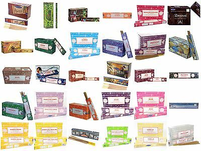 New Incense Sticks Pack of 12 Genuine Nag Champa Scented Joss 15g Scents Stick