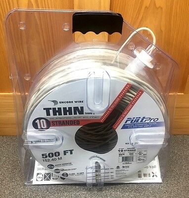 500' THHN  THWN-2 10 AWG Stranded ENCORE WIRE  PULLPro New Factory Package