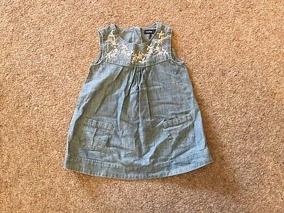 Baby Girl Embroidered Dress From Gap Age 6-12 Months