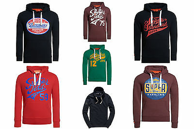 New Mens Superdry Hoodies Selection Various Styles & Colours