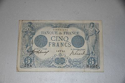 France 5 Francs Banknote 1915 P#70 RMC 105