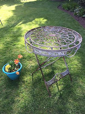Vintage Metal Garden Table Pretty And Ornate
