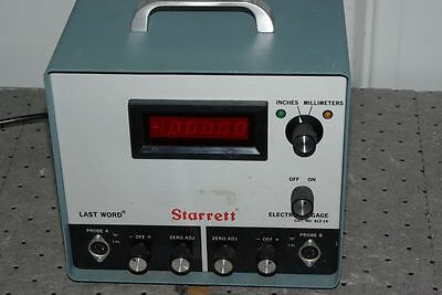 Starrett Cat. No. 812-14 Last Word Electronic Gage No Probes for Parts or Repair