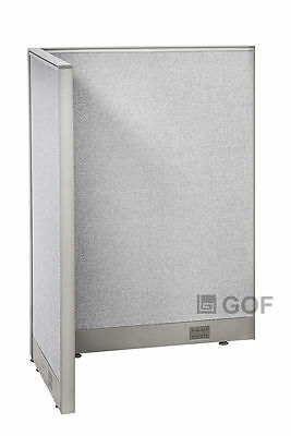 GOF L-Shaped Freestanding Partition 30D x 36W x 48H / Office, Room Divider