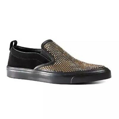 85784bdb8dc  740 NEW GUCCI Men s Studded Leather Cross Band Slip-on Sandal ...