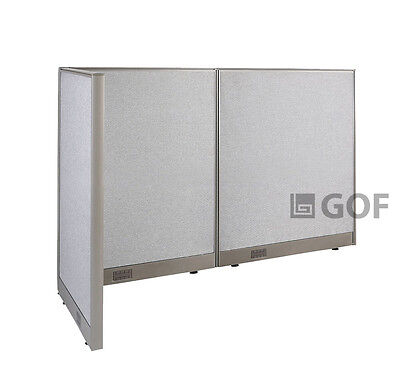 GOF L-Shaped Freestanding Partition 30D x 66W x 48H / Office, Room Divider