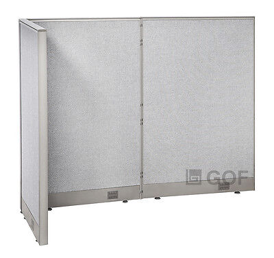 GOF L-Shaped Freestanding Partition 30D x 60W x 48H / Office, Room Divider