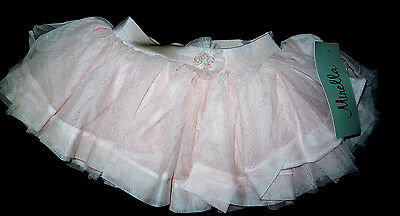 NWT Mirella Ballet Dance Pink Sequin Cluster Tutu Skirt Girls Sm Child 4/6 MS67C