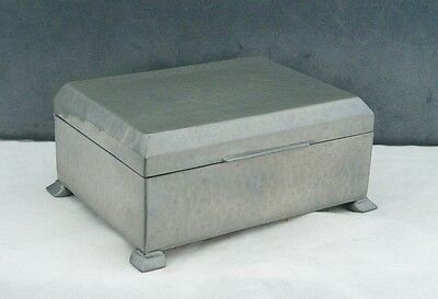 Liberty & Co Tudric Pewter Hammered Finish Cigarette/jewellery Box Arts & Crafts