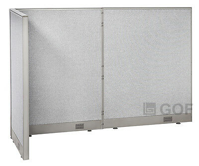 GOF L-Shaped Freestanding Partition 30D x 72W x 48H / Office, Room Divider