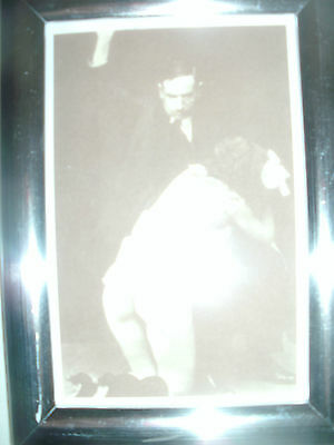 """Bare Bottom Spanking Picture in 6""""x4"""" Silver Frame."""