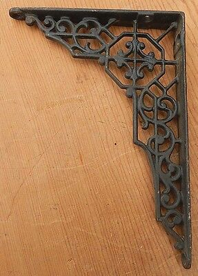 Single Fancy Antique Cast Iron Black & Gold Bracket Plant Bird Cage Hanger