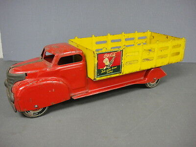 Vintage Marx 1940's-1950's Pressed Steel Coca-Cola Truck With Sprite Boy Decal