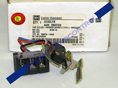 New Cutler Hammer A1X2Ltk 1No-1Nc J Frame Auxiliary Switch