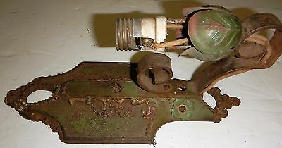 Antique Lincoln #904 Wall Sconce Light Cast Iron Art Nouveau Single Arm Candle