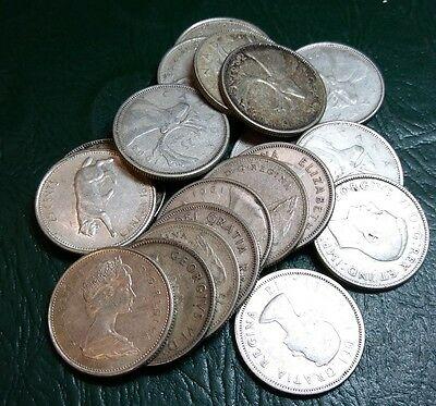 one roll (20) 80% Silver Canadian Quarters