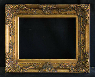 """Antique Reproduction Ornate Gold Frame 12"""" x 16"""", 3 1/2"""" Wide, 2 1/2"""" Thick"""
