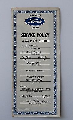 FORD Service Policy Dec. 10, 1945