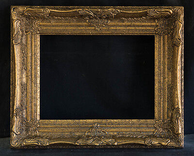 """Antique Reproduction Ornate Gold Frame 12"""" x 16"""", 3 1/2"""" Wide, 2 /1/2"""" Thick"""