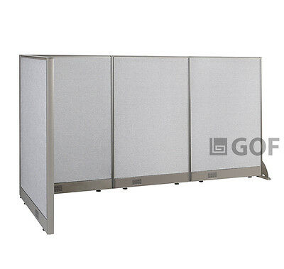 GOF L-Shaped Freestanding Partition 30D x 90W x 48H / Office, Room Divider
