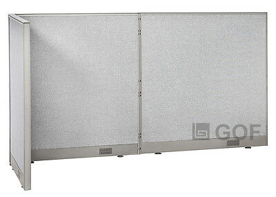 GOF L-Shaped Freestanding Partition 30D x 96W x 48H / Office, Room Divider