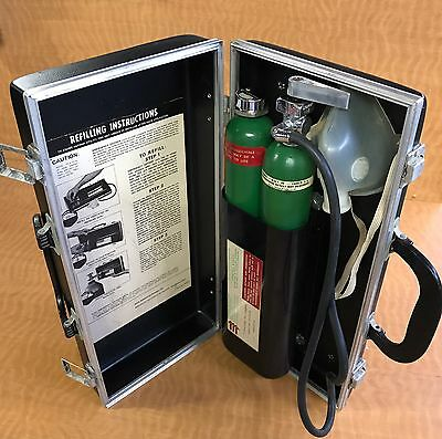 Emergency Oxygen Kit vintage MEDICAL RESCUE ERIE Steampunk costume rare