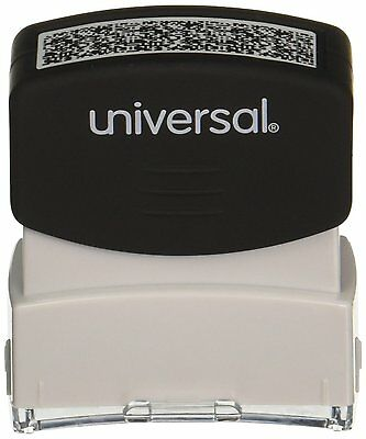 "Universal Security Stamp, Obscures Area 9/16"" x 1 11"" /16, Black 10136"