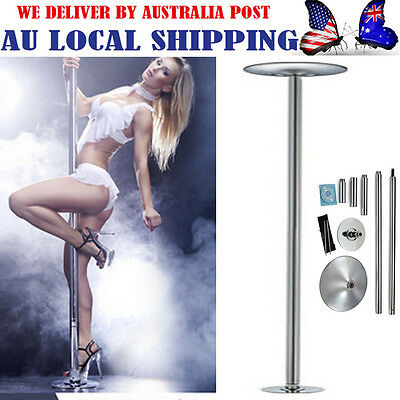 DANCE POLE PORTABLE EXERCISE SPINNING HOME GYM DANCING FITNESS w/ EXTENSION -GH