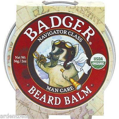 CLEARANCE, EXP 09/2017 Badger Navigator Class Man Care: BEARD BALM, 2 oz