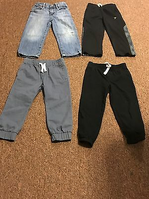 "Lot Of ""4"" Toddler Boys Assorted Pants US Size 4t"