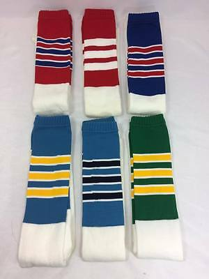 Vintage Tube Striped Socks Over The Calf Made In The USA NOS Twin-Citys